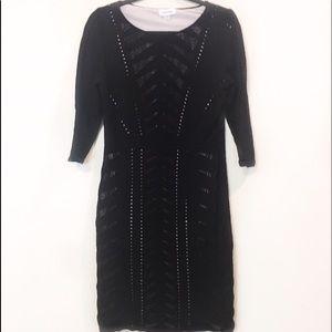 Calvin Klein Chic Lacy Black Dress